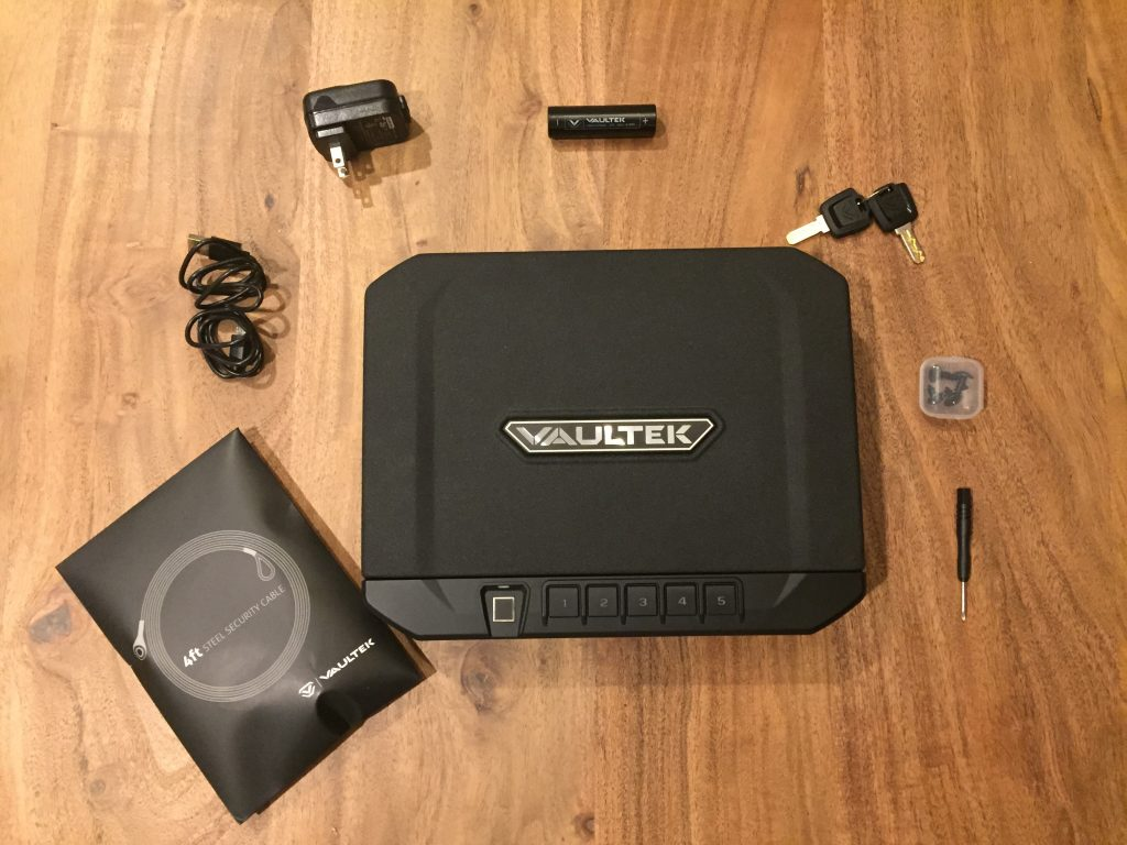 Vaultek VT10i with accessories