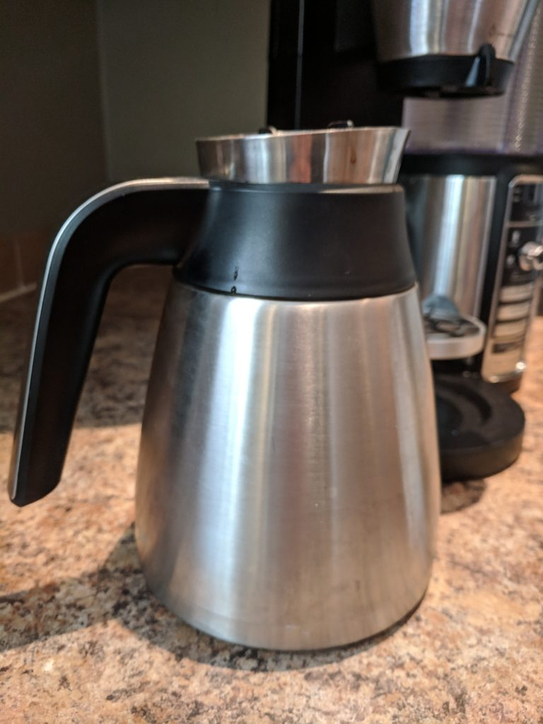 The Ninja Coffee Bar insulated carafe works awesome