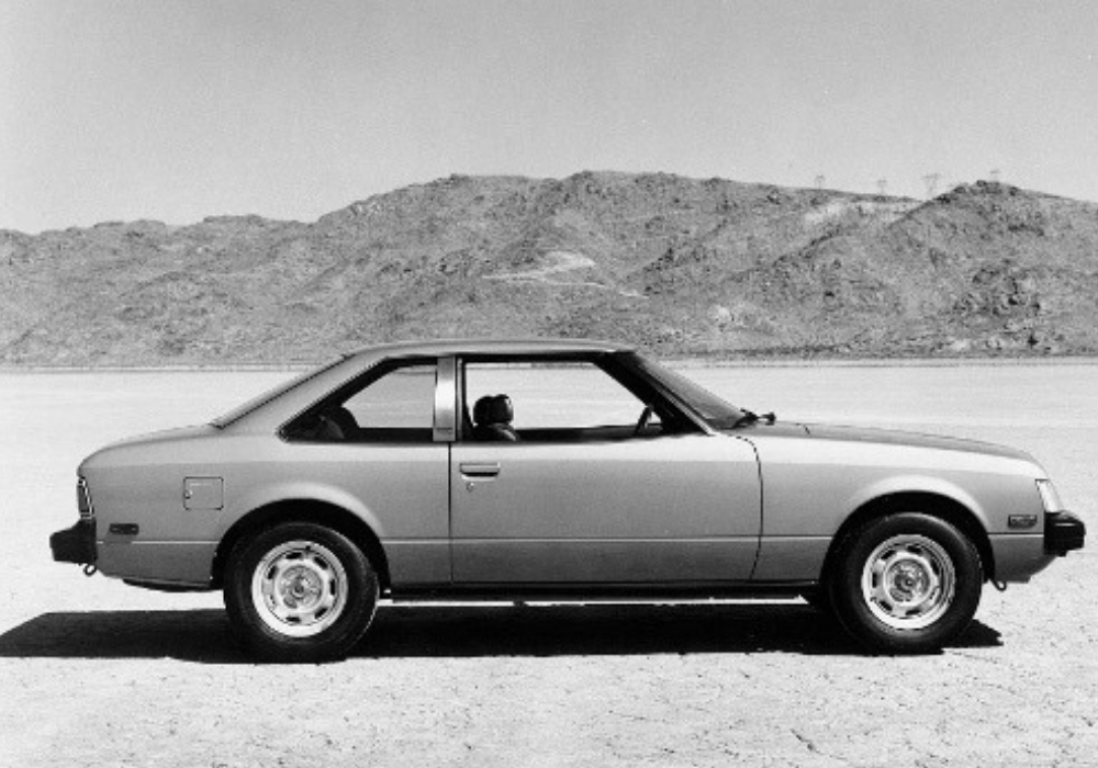 Black and White Photo of Second Generation Toyota Celica