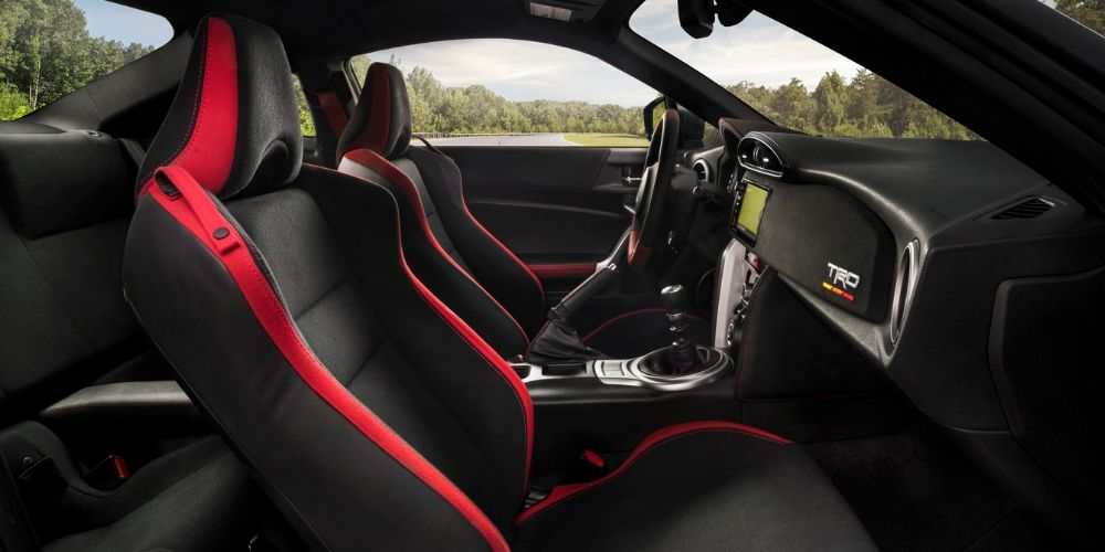 The TRD 86 has red and black interior