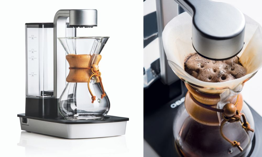 Two images of the Chemex Ottomatic