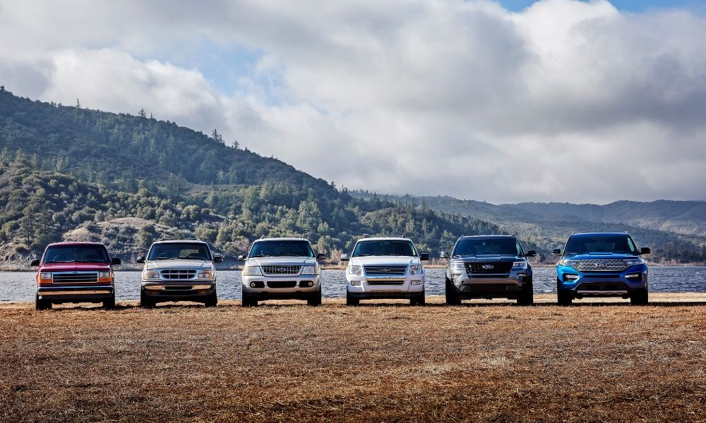 Ford Explorer's over the years