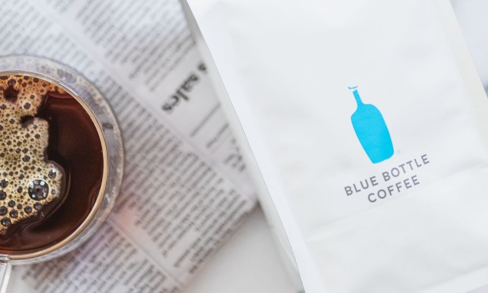 Blue Bottle Coffee packaging with cup