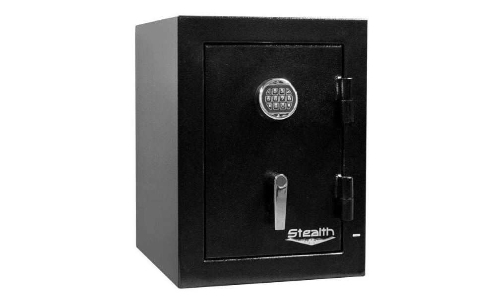 Electronic lock on stealth safe