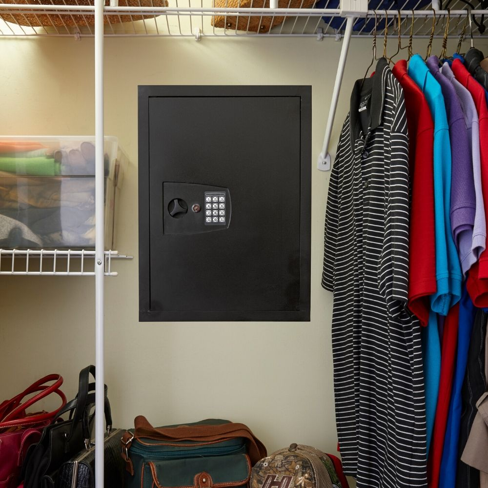 Snapsafe In Wall Safe in closet